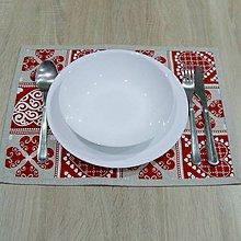 Úžitkový textil - ZUZANA-krása tradície červená (1)-prestieranie 30x40 - 10810286_
