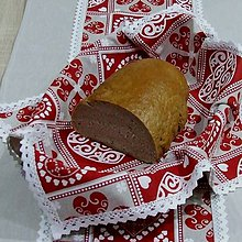 Úžitkový textil - ZUZANA-krása tradície červená (2)-štvorec 40x40 - 10810497_