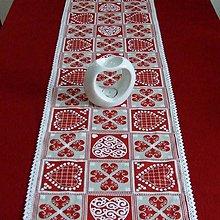 Úžitkový textil - ZUZANA-krása tradície červená (3)-stredový obrus 135x38 - 10810577_