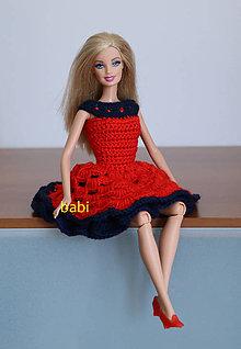 Hračky - Háčkované šatičky pre Barbie - 10809530_