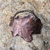 Náramky - Pokovený dubový list*náramek - 10810800_