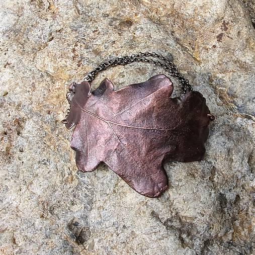 Pokovený dubový list*náramek