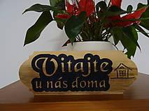 Dekorácie - Dreveny napis na dvere Vitajte - 10809797_
