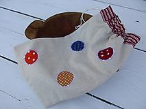 Úžitkový textil - režné vrecko-bodka - 10810271_
