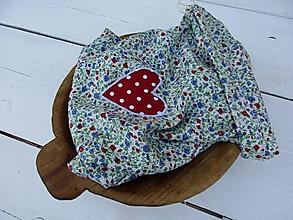 Úžitkový textil - obojstranné vrecko -červené srdce - 10810283_