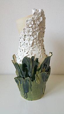 Dekorácie - Váza plná kvetov - 10809090_