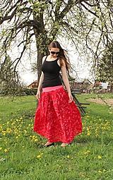 Sukne - Červeno-ružová SKLADOM - 10810798_