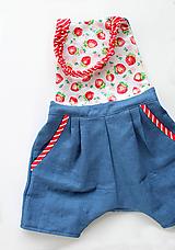 """Detské oblečenie - unisex nohavice krátke """" Ľanové na Traky"""" - 10809030_"""