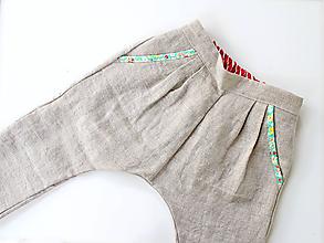 "Detské oblečenie - unisex nohavice dlhé ""Ľanové"" - 10808546_"