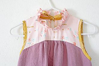 """Detské oblečenie - Viktoriánske šaty """" Ľanové / Bavlnené """" dlhé / žiadny rukáv - 10808557_"""