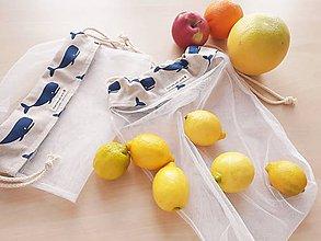 Nákupné tašky - eko vrecká na ovocie a zeleninu - 10813208_
