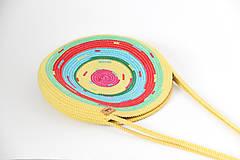 Kabelky - Kabelka kulatá žlutá - 10811217_