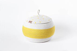 Košíky - Košík žlutý s pokličkou - 10811149_