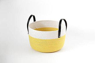 Košíky - Košík žlutý - 10811155_