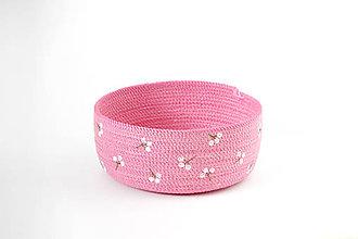 Košíky - Košíček růžový - 10811180_