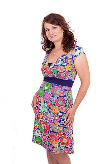 Tehotenské/Na dojčenie - 3v1 dojčiace púzdrové šaty RŮZNÉ VZORKY - 10811849_