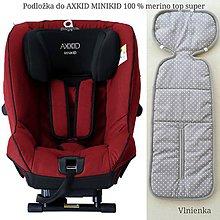 Textil - RUNO SHOP Podložka do autosedačky AXKID MINIKID 0-25  kg 100% MERINO proti poteniu a prehriatiu a prechladnutiu Bodka - 10813061_