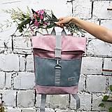 Batohy - Batoh Alex (šedo-ružový) - 10811731_