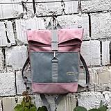 Batohy - Batoh Alex (šedo-ružový) - 10811732_