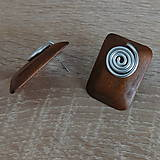 Náušnice - drevené slimáčikové napichovačky - 10811545_