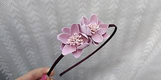 Ozdoby do vlasov - Čelenka .... kvety ružové - 10811400_