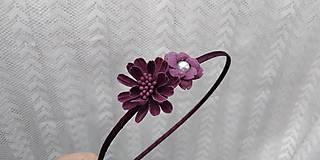 Ozdoby do vlasov - Čelenka... kvety bordové - 10811403_