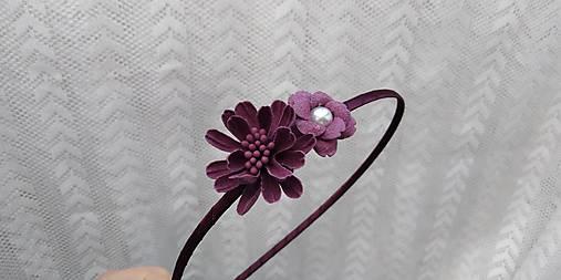 Čelenka... kvety bordové