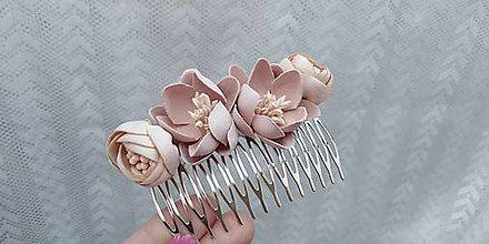 Ozdoby do vlasov - Hrebienok... kvety marhuľové - 10811408_