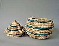 Košíky - Košíková šperkovnica z palmových listov - 10811027_