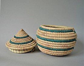 Košíky - TRADITIONAL Prútená šperkovnica z palmových listov - 10811027_