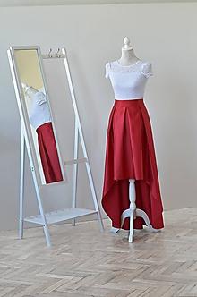 Sukne - Asymetrická sukňa s vreckami - 10811559_