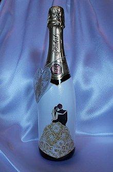 Nádoby - Darčekový svadobný sekt - 10813242_