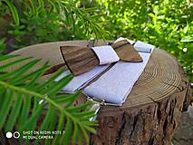 Doplnky - Pánsky set - drevený motýlik a traky - 10812651_