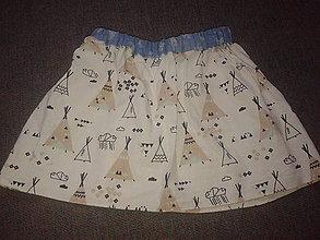 Detské oblečenie - suknička s indianským motívom pre ,,Pocahontas,, - 10811909_