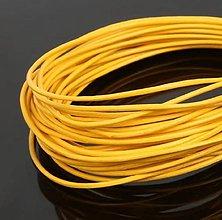 Galantéria - SK101 Šnúrka kožená guľatá 1 mm (Žltá) - 10812893_