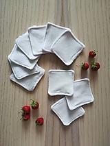 Úžitkový textil - Látkové kozmetické tampóny - natur - 10812911_