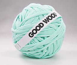 Materiál ručne robený - Tričkovlna GOOD WOOL... Mentolová - 10812882_