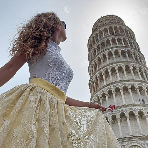 Sukne - Sukňa z kvakitnej pevnejšej krajky podšitá tylom rôzne farby - 10811962_