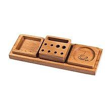 """Pomôcky - drevený dizajnový organizér """" Trio Quercus"""" - 10812012_"""