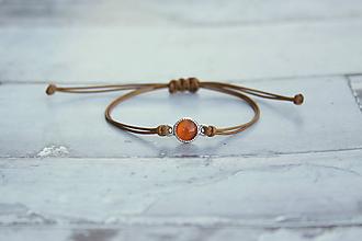 Náramky - Náramok s kameňom (Oranžový) - 10812658_
