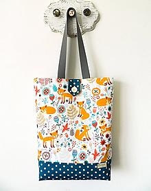 Veľké tašky - Spevnená taška líščie údolie - 10811846_