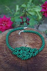 Náhrdelníky - Zelený uzlový náhrdelník - 10813130_