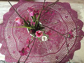 Úžitkový textil - lila romantika - 10810963_