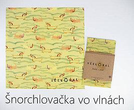 Úžitkový textil - Sir Rožok 25 x 25 cm (Šnorchlovačka vo vlnách) - 10812525_