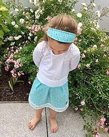 Detské oblečenie - Letný sukničkový set (suknička a čelenka) - 10812093_