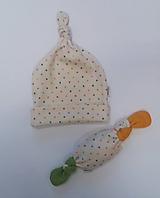 Detské čiapky - Čiapočka a žužlátko cukrík - 10811247_
