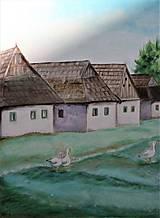 Obrazy - Dedina a húsky - 10812599_