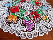 Úžitkový textil - Obrus s richelieu výšivkou - 10811419_