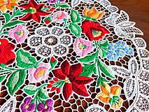 Úžitkový textil - Obrus s richelieu výšivkou - 10811420_