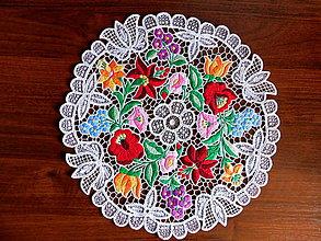 Úžitkový textil - Obrus s richelieu výšivkou - 10811418_